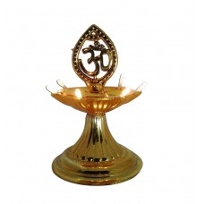 Indian Electrical Single Layer LED Golden OM Design Electric Diya