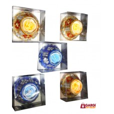 Candles for Decoration | Candles for Bedroom | Candles Decorations for Living Room |Gel | Set Of 5 | Yellow\Blue