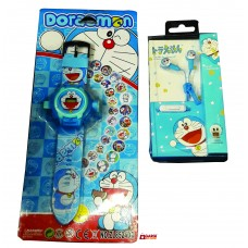 Doremon combo watch and Ear Phone \ Toys for Kids