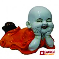 Baby Laughing Buddha Monk Idol Statue (Marble)\ 2 No \ Home Decor\God Statues