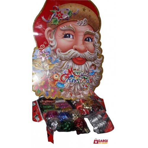 Christmas Facial.Christmas Combo 3 Santa Cutout Face With Decoration