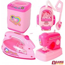 Doll Household Appliances Set For Girls \ Kids Toys \ 4 Piece with Light and Music