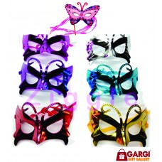 Butterfly Mask\ Party Decor \ Pack of 6 \ Multi Color