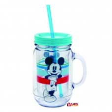 Disney Mickey Mouse Jar with Straw, 500ml\ School Stationary \ Toys for Kids