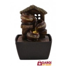 Indoor Outdoor water fountain stoneware Black\Brown